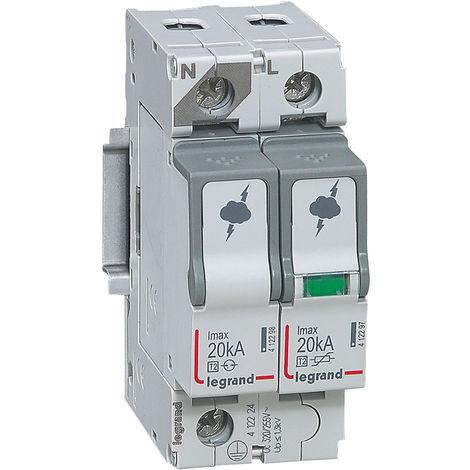 "main image of ""Parafoudre basse tension T2- Imax 20 kA/pôle- 1P+N- 320 VA- 2 modules"""