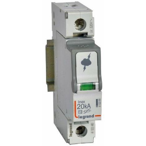 Parafoudre basse tension typeT2 Imax 20kA-pôle 1P 320V~ 1 module (412220)