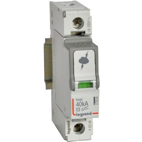 Parafoudre basse tension typeT2 Imax 40kA-pôle 1P 320V~ 1 module (412240)