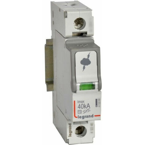 Parafoudre basse tension typeT2 Imax 40kA-pôle 1P 440 V~ 1 module (412230)