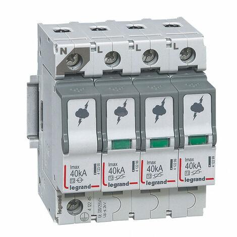 Parafoudre basse tension typeT2 Imax 40kA-pôle 3P+N 320V~ 4 modules (412245)