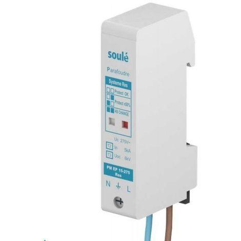 Parafoudre modulaire 1P+N 15kA 230V type 2+3 275V pour réseau éclairage reserve PM EP 15-275 RES (SOULE) ABB B752476