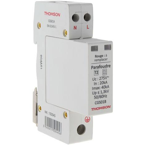 Parafoudre modulaire Ph+N idéal T2 - 40kA - Thomson