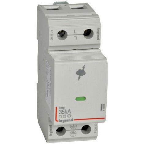 Parafoudre pour protection des installations de risque très élevé typeT1 + typeT2 Iimp 35kA-pôle 1P 2 modules (412280)