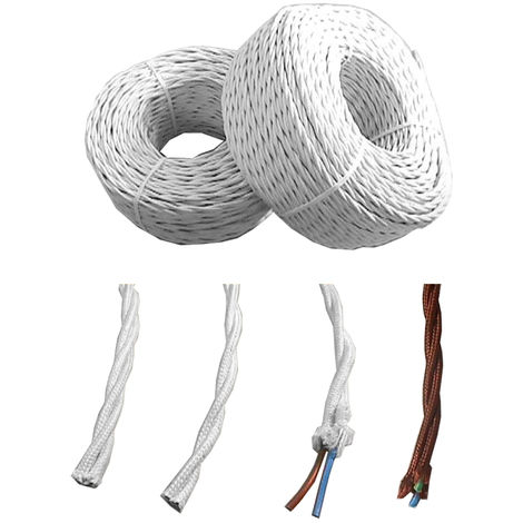 Paralelo textil trenzado 2x1mm marron euro/mts