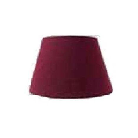 Paralume cono cotton diameter 25 bordeaux attacco e27 178