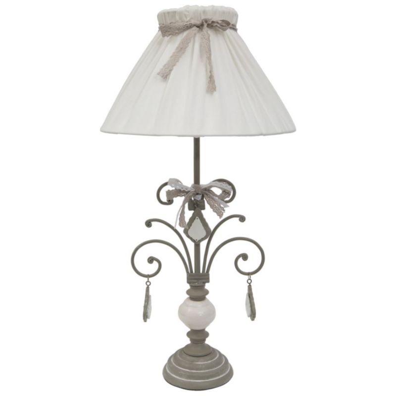 Paralume lampada da tavolo in ceramica illuminazione interni shabby FIRSTLY