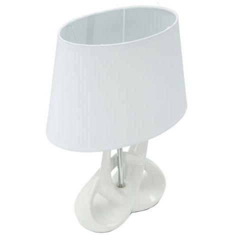 Paralume lampada da tavolo o comodino in ceramica e ferro
