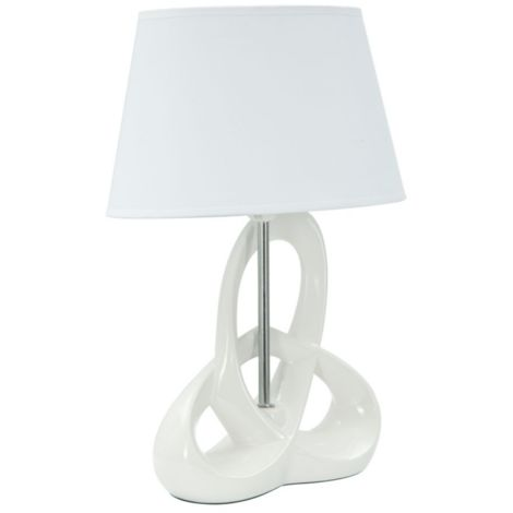 Paralume lampada in ceramica da tavolo bianco moderno FLY