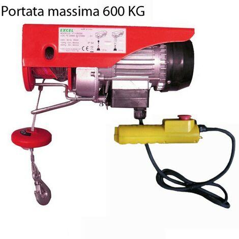 "main image of ""Paranco Elettrico a Fune Portata 600 Kg Montacarichi per Legna Sollevatore Tiro"""