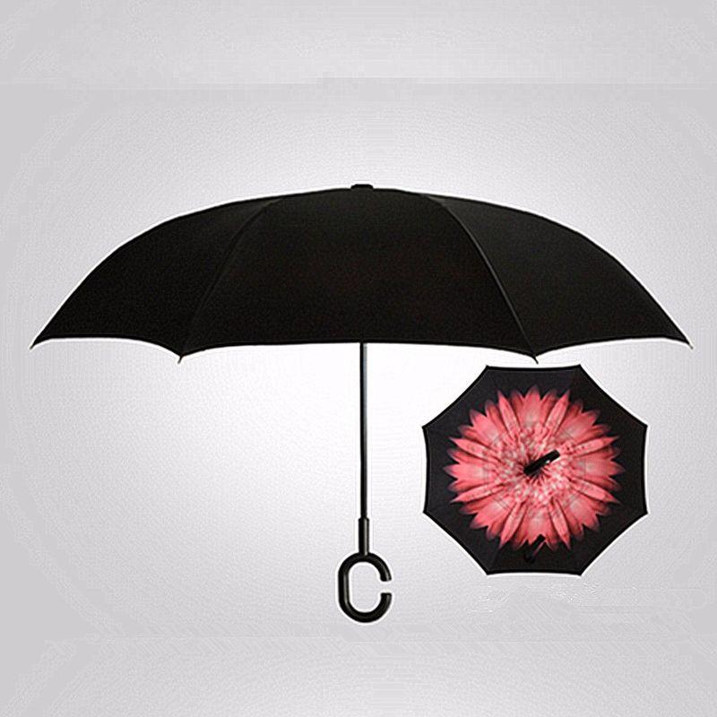 2021 Nouveau Parapluie étanche Inverse Automatique Anti Uv Pliable Pluie Soleil Créatif 106 * 80Cm B