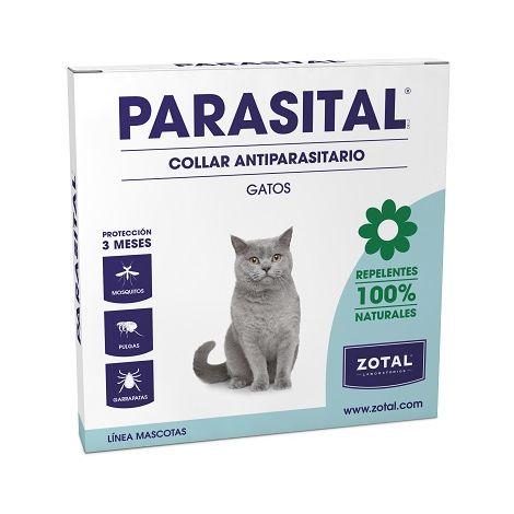 PARASITAL Collar Anti Parasitario Repelente para Gatos