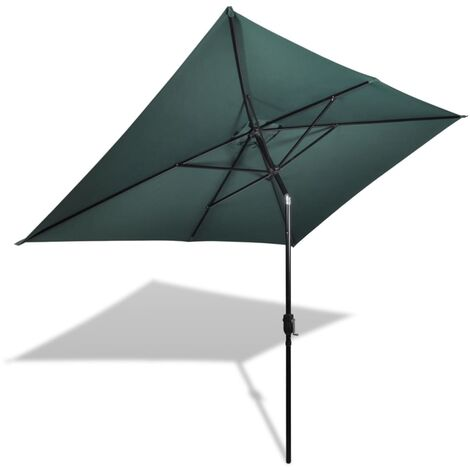 Parasol 200 x 300 cm Green Rectangular