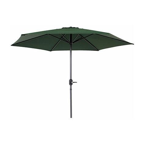 Parasol 270 cm vert foncé avec pied en aluminium