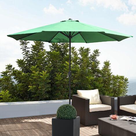 Parasol (?300cm) aluminium (diff?rentes couleurs) manivelle / parasol / parasol de jardin / jardin