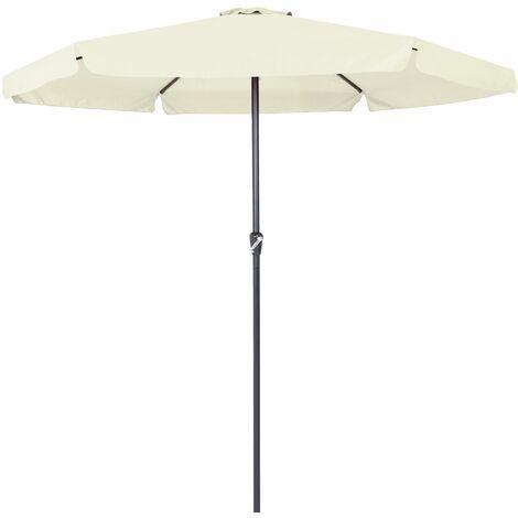 Parasol - Ø 330cm - Avec manivelle - Jardin - Terrasse - Coloris au choix