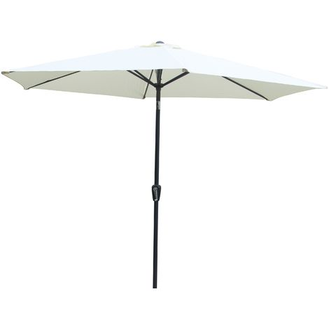 Parasol 3m Cream with Steel Frame