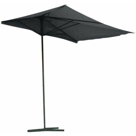 Parasol balcon noir pied en T