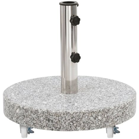 Parasol Base Granite 30 kg Round Grey