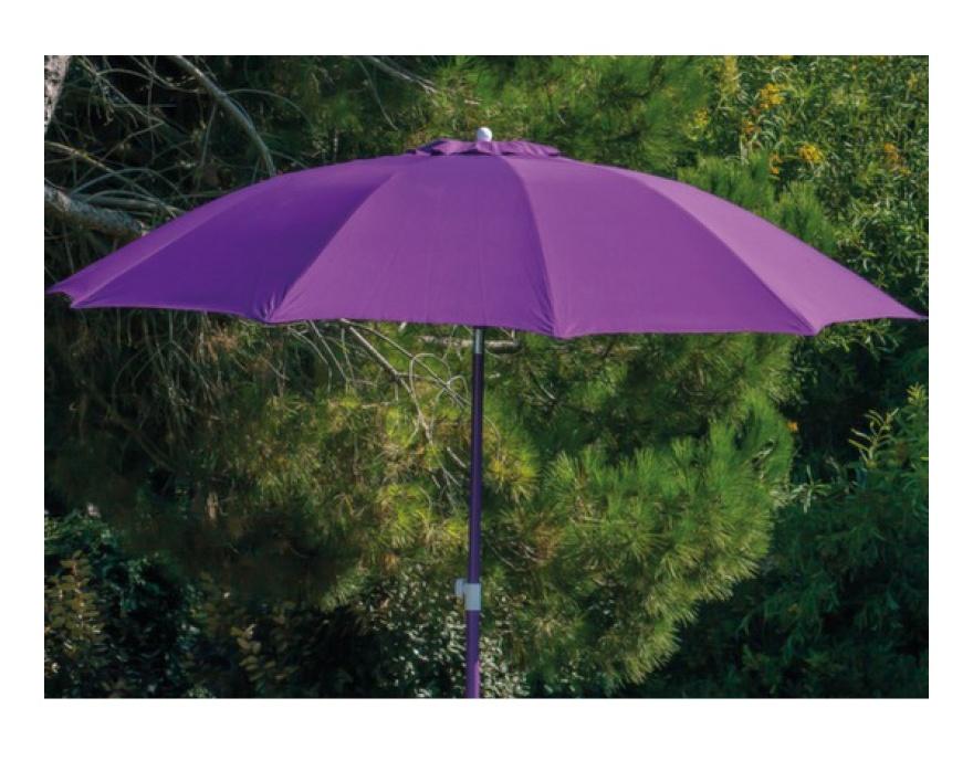 Parasol fibre de verre 270 Cassis - Proloisirs