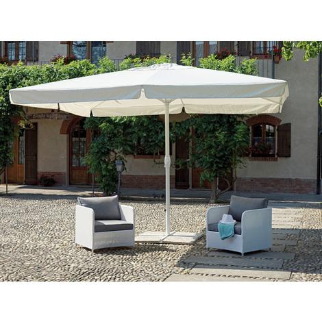 Parasol carré centré 4 x 4 m coloris ecru - A USAGE PROFESSIONNEL