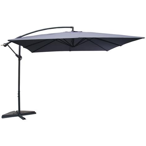 Parasol déporté 3x3m Solenzara - Gris