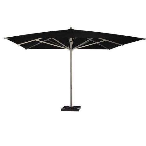 Parasol centré Basto Noir anti-UV 400x400cm