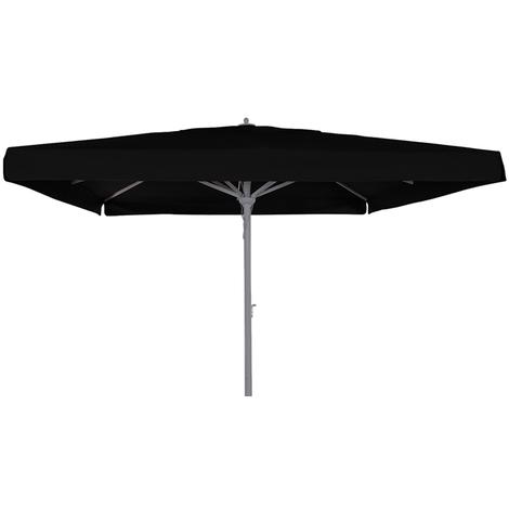Parasol centré Maestro Prestige Noir anti-UV carré 400x400cm