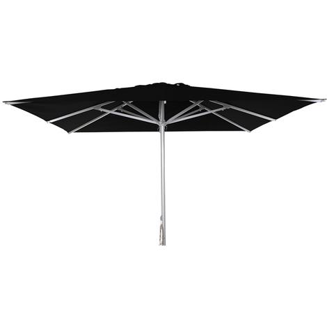 Parasol centré Patio Noir anti-UV carré 300x300cm