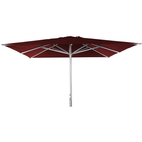 Parasol centré Patio Rouge anti-UV carré 300x300cm