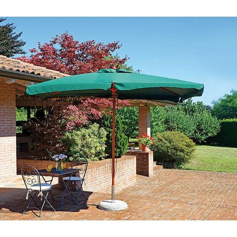 Parasol centré rectangulaire 3 x 4 m coloris vert polyester 230 gr - A USAGE PROFESSIONNEL - - PEGANE -