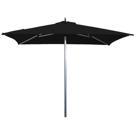 Parasol centré Sublimo Noir anti-UV Carré 200x200cm
