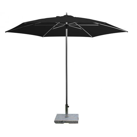 Parasol centré Sublimo Noir anti-UV rond ?300cm