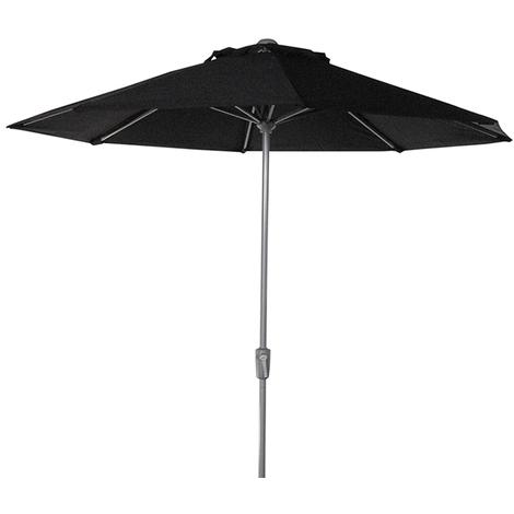 Parasol centré Teatro Noir anti-UV rond 270cm