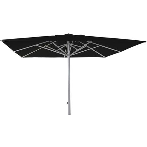 Parasol centré téléscopique Presto Noir anti-UV carré 330x330cm