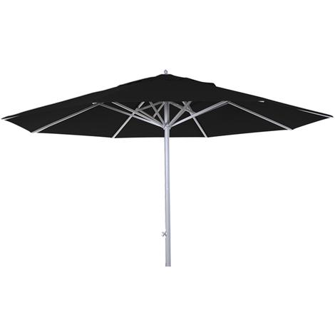 Parasol centré téléscopique Presto Noir anti-UV rond 400cm