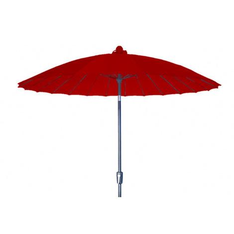 Parasol centré Vaticano Rouge anti-UV inclinable rond 250cm