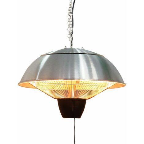 Parasol chauffant électrique suspendu 1500W – Oslo – Chauffage d'extérieur type halogène. kit de suspension inclus (chaîne et crochet)