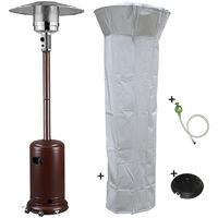 Parasol chauffant gaz 14 KW GOLD Radiateur de terrasse (inclus housse, lest et connectique)