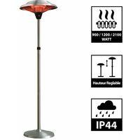 Parasol chauffant infrarouge MARS - Chauffage électrique de terrasse à Halogène 2100W, Extérieur IP44, Réglable - Radiateur Jardin/Patio/Terrasse/Intérieur