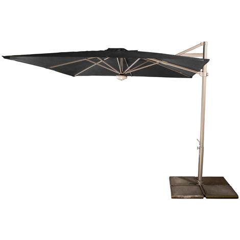 Parasol Cielo plus Anthracite anti-UV inclinable carré 260x260cm