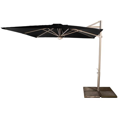 Parasol Cielo plus Noir anti-UV inclinable carré 260x260cm