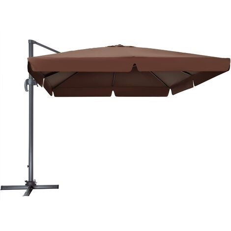 Parasol Cinzia - parasol excéntrico de jardín, sombrilla metálica para terraza ajustable, quitasol con inclinación graduable