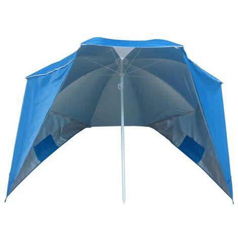 Parasol coupe-vent de plage Arca - Bleu