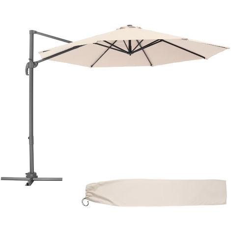 Parasol DARIA 300 cm - parasol jardin, parasol deporté, parasol de balcon