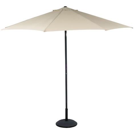 Parasol de couleur beige avec manivelle diamètre 3m