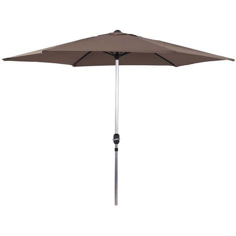 "main image of ""Parasol de jardín de aluminio - Sol - Circular - Ø 3m - Gris topo"""
