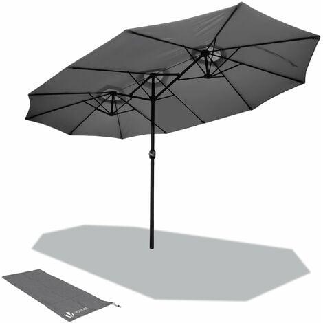 Parasol de Jardin Double Aluminium 270 x 460 cm