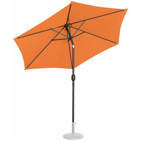 Parasol de jardin meuble abri terrasse diamètre 270 cm inclinable orange - Or