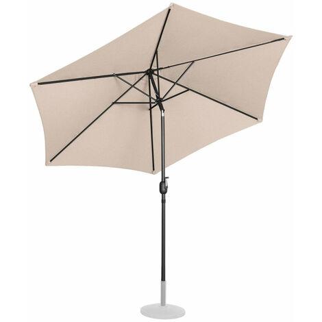 Parasol de jardin meuble abri terrasse diamètre 300 cm inclinable crème - Crème